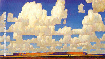Cloud World 1925 By Maynard Dixon