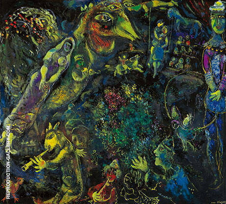 Bestiaire et Musique By Marc Chagall Replica Paintings on Canvas - Reproduction Gallery