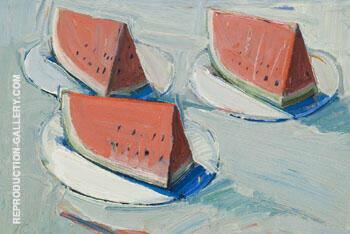 Watermelon Slices By Wayne Thiebaud
