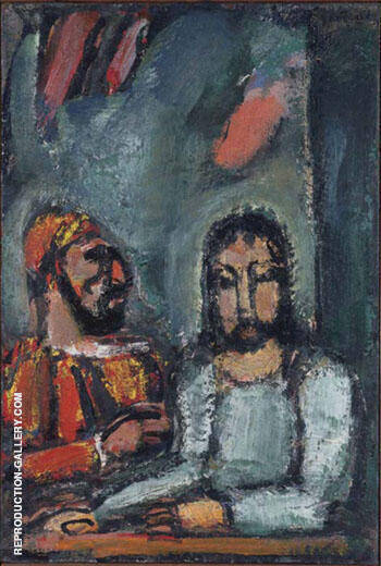 Christ and the High Priest Painting By George Rouault