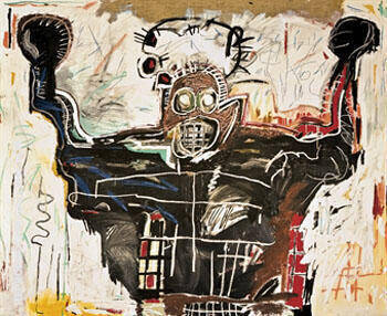 Boxer By Jean-Michel-Basquiat Replica Paintings on Canvas - Reproduction Gallery