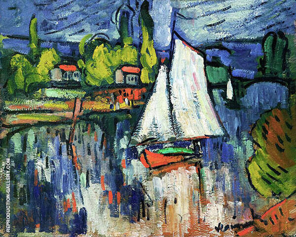 View of the Seine c1905 Painting By Maurice de Vlaminck