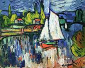 View of the Seine c1905 By Maurice de Vlaminck