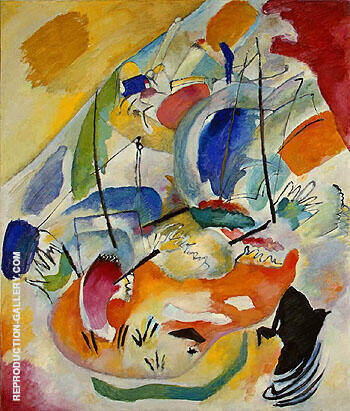 Reproduction of Improvisation 31 Sea Battle1913 by Wassily Kandinsky | Oil Painting Replica On CanvasReproduction Gallery