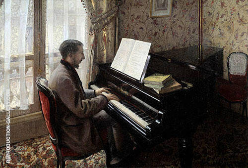 Reproduction of Young Man Playing the Piano 1876 by Gustave Caillebotte | Oil Painting Replica On CanvasReproduction Gallery