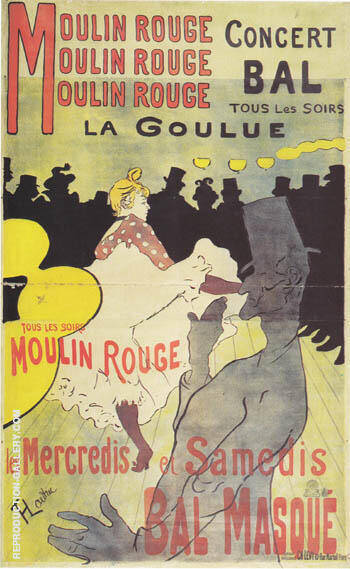 Moulin Rouge La Goulue 1891 Painting By Henri De Toulouse-lautrec