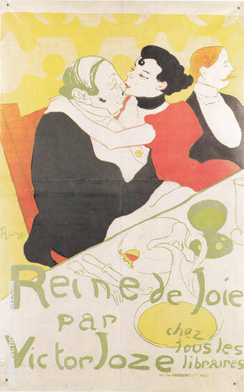 Reine de Joie 1892 By Henri De Toulouse-lautrec - Oil Paintings & Art Reproductions - Reproduction Gallery