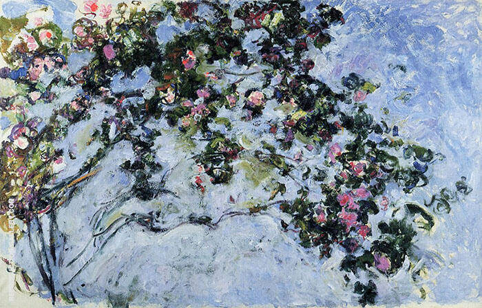 The Rose Bush 1925 Painting By Claude Monet - Reproduction Gallery