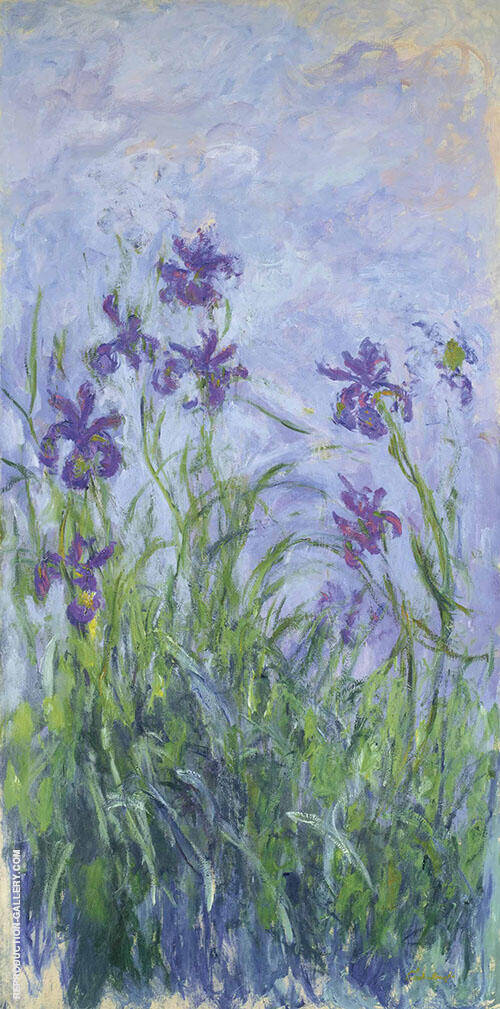 Iris Mauves Painting By Claude Monet - Reproduction Gallery