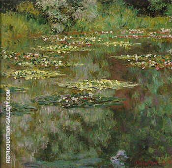 Water Lilies 1904 Painting By Claude Monet - Reproduction Gallery