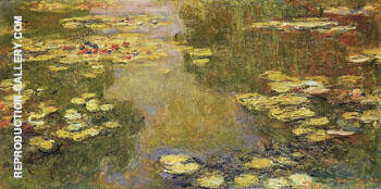 Water Lilies 1918 By Claude Monet - Oil Paintings & Art Reproductions - Reproduction Gallery