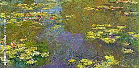 Water Lilies 1919 By Claude Monet