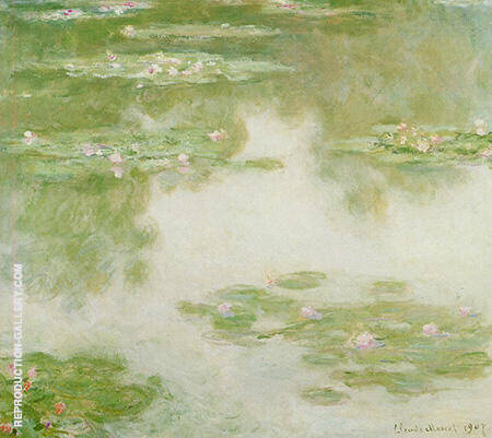Water Lilies 302 By Claude Monet
