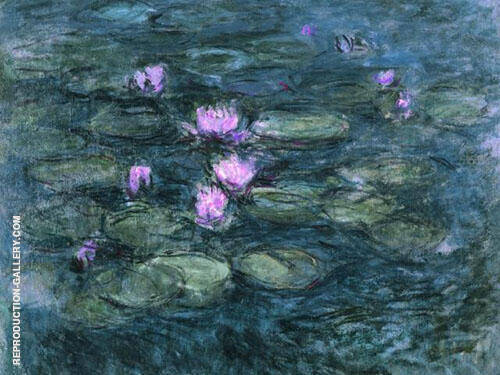 Water Lilies 43 By Claude Monet