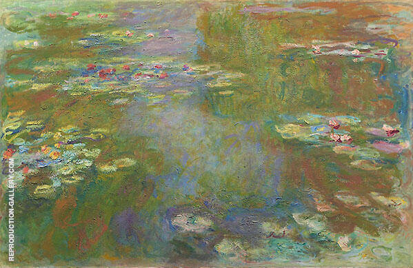 Water Lilies c1925 By Claude Monet Replica Paintings on Canvas - Reproduction Gallery