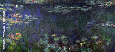 Green Reflection c1916 By Claude Monet Replica Paintings on Canvas - Reproduction Gallery