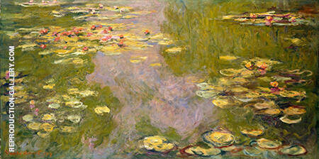 Reproduction of Water Lily Pond Giverny Spring Summer 1919 by Claude Monet | Oil Painting Replica On CanvasReproduction Gallery
