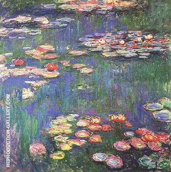 Water Lilies 1917_800 By Claude Monet Replica Paintings on Canvas - Reproduction Gallery