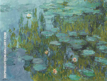 Water Lilies 1914 By Claude Monet Replica Paintings on Canvas - Reproduction Gallery