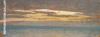 View of The Sea at Sunset 1862 By Claude Monet