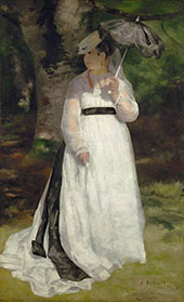 Lise with an Umbrella By Pierre Auguste Renoir