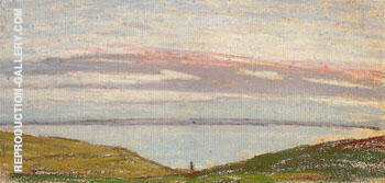 View of The Sea at Sunset 1862 2 By Claude Monet