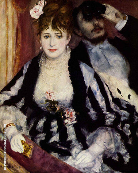 La Loge 1874 By Pierre Auguste Renoir - Oil Paintings & Art Reproductions - Reproduction Gallery