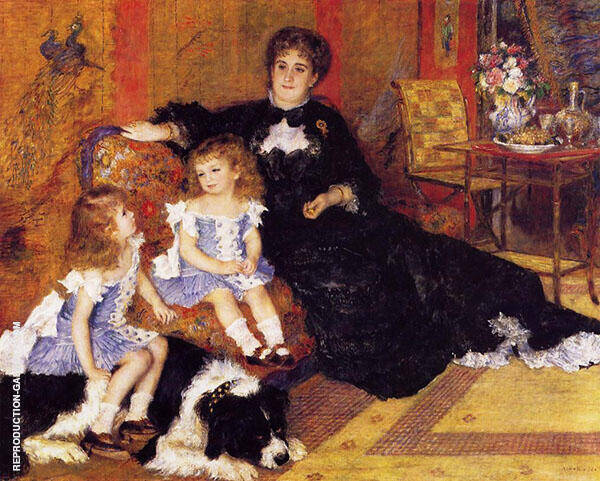Madame Charpentier and her Children 1878 Painting By Pierre Auguste Renoir