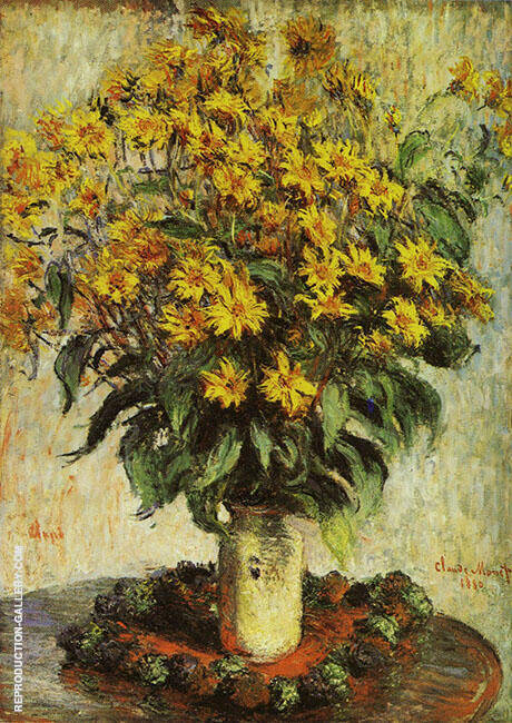 Vase of Chrysanthemums 1880 By Claude Monet Replica Paintings on Canvas - Reproduction Gallery