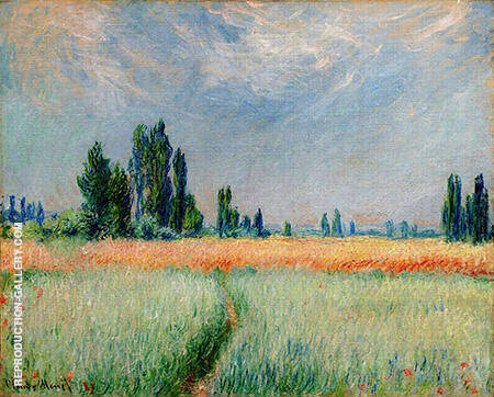 Wheat Field 1881 By Claude Monet Replica Paintings on Canvas - Reproduction Gallery