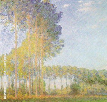 Poplars in the Sun By Claude Monet - Oil Paintings & Art Reproductions - Reproduction Gallery