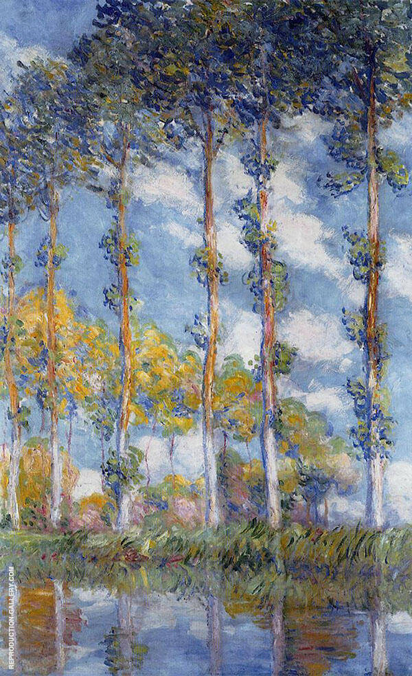 Poplars along the Epte (Sunset Effect) 1891 Painting By Claude Monet