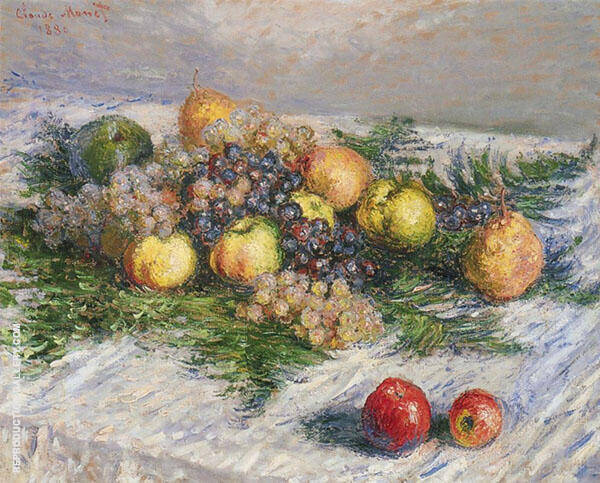 Pears and Grapes 1880 By Claude Monet