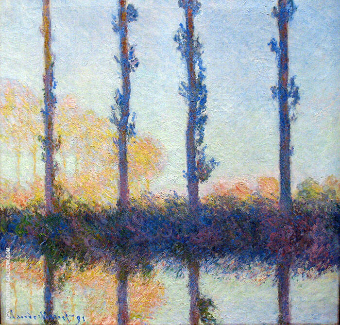 Four Trees 1891 By Claude Monet