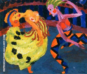 Dancer and Harlequin 1920 By Emil Nolde