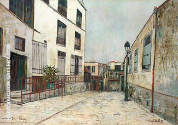 Impasse Trainee, Montmartre c1931 By Maurice Utrillo Replica Paintings on Canvas - Reproduction Gallery