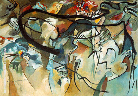 Composition V 1911 By Wassily Kandinsky - Oil Paintings & Art Reproductions - Reproduction Gallery