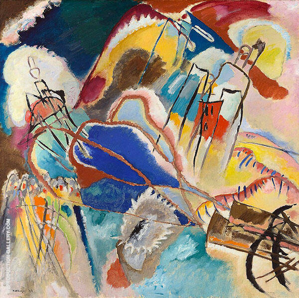 Improvisation 30 Cannons 1913 Painting By Wassily Kandinsky
