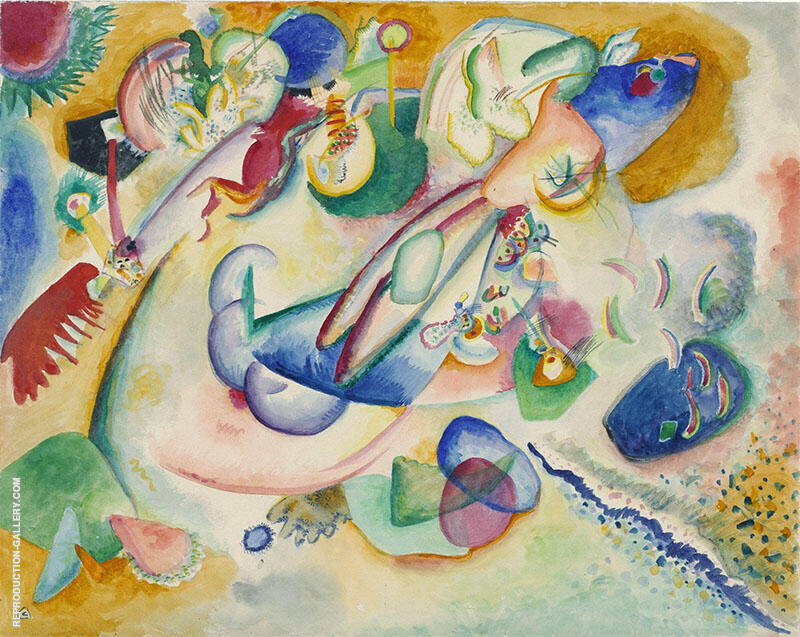 Improvisation 1914 Painting By Wassily Kandinsky - Reproduction Gallery