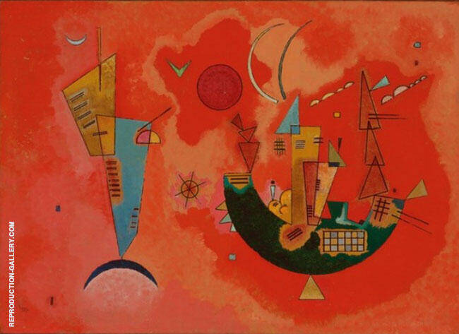 For and Against (Mit und Gegen) 1929 By Wassily Kandinsky Replica Paintings on Canvas - Reproduction Gallery