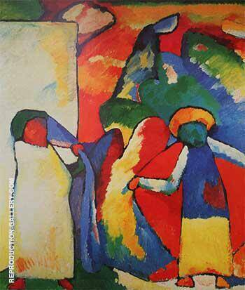 Reproduction of Improvisation 6 African 1909 by Wassily Kandinsky | Oil Painting Replica On CanvasReproduction Gallery