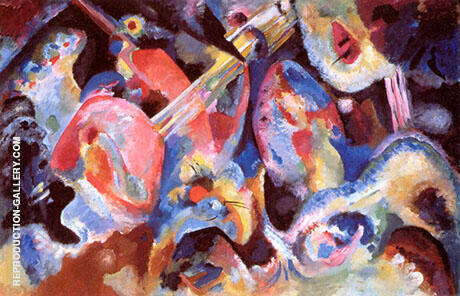 Improvisation Deluge 1913 By Wassily Kandinsky - Oil Paintings & Art Reproductions - Reproduction Gallery