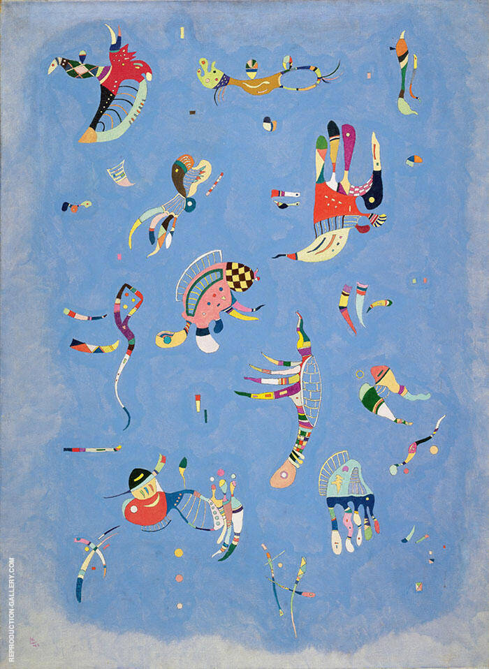 Sky Blue 1940 Painting By Wassily Kandinsky - Reproduction Gallery