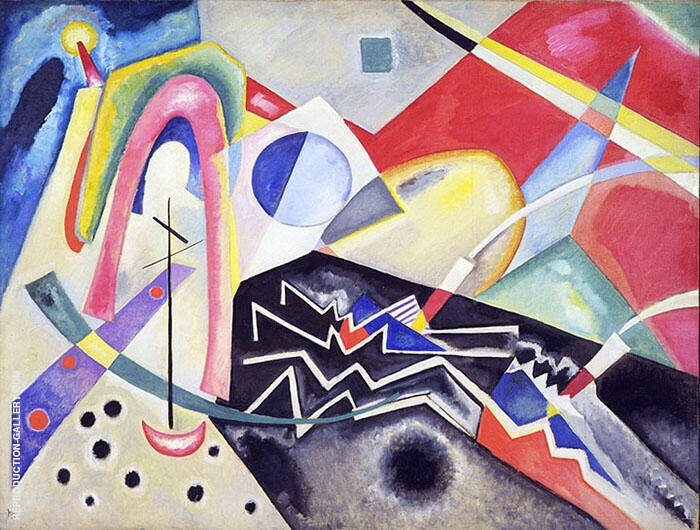 White Zig Zag 1922 By Wassily Kandinsky Replica Paintings on Canvas - Reproduction Gallery