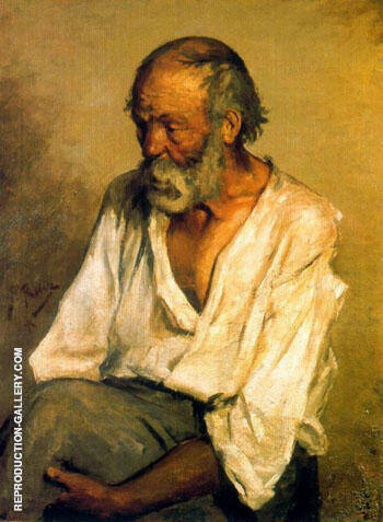 The Old Fisherman 1895 By Pablo Picasso - Oil Paintings & Art Reproductions - Reproduction Gallery