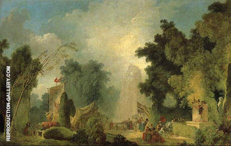 The Fair at Saint-Cloud By Jean Honore Fragonard Replica Paintings on Canvas - Reproduction Gallery