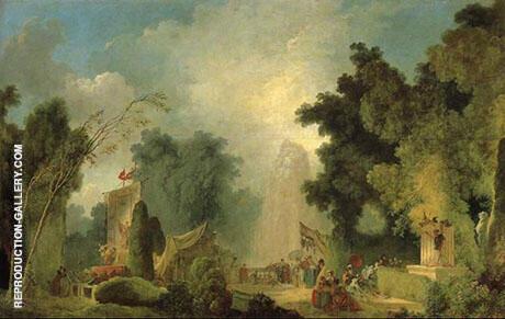 The Fair at Saint-Cloud By Jean Honore Fragonard