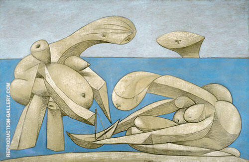 On the Beach 1937 By Pablo Picasso Replica Paintings on Canvas - Reproduction Gallery