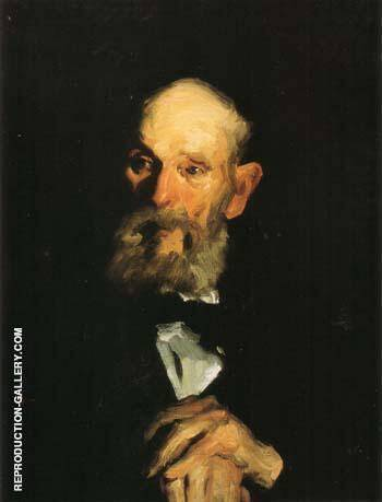 Portrait of  My Father 1906 By George Bellows - Oil Paintings & Art Reproductions - Reproduction Gallery
