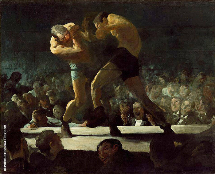 Club Night 1907 Painting By George Bellows - Reproduction Gallery